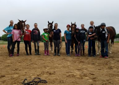 Kids-volunteers-and-horses